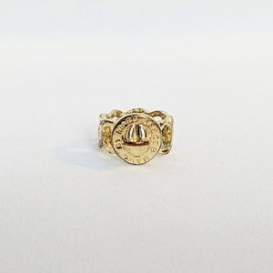 Marc Jacobs Signature Turnlock Gold Tone Ring